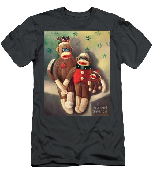 No Monkey Business Here 2 Men's T-Shirt (Athletic Fit)