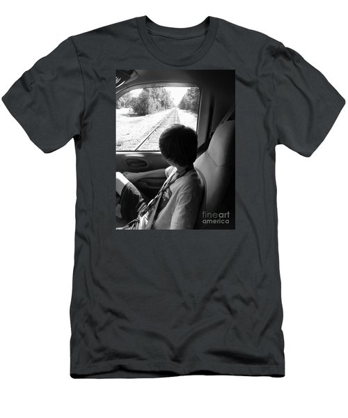 No Train Coming Men's T-Shirt (Slim Fit)