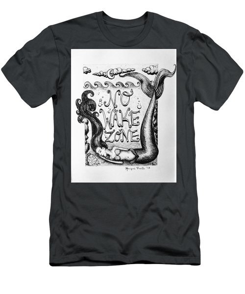 No Wake Zone, Mermaid Men's T-Shirt (Athletic Fit)