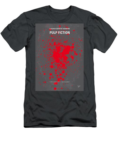 No067 My Pulp Fiction Minimal Movie Poster Men's T-Shirt (Athletic Fit)