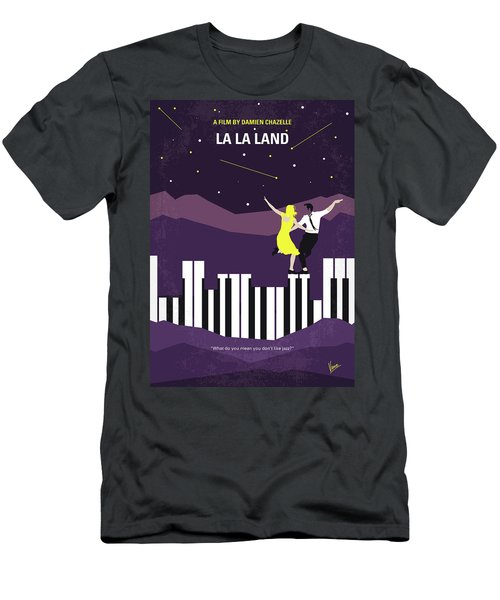 Men's T-Shirt (Slim Fit) featuring the digital art No756 My La La Land Minimal Movie Poster by Chungkong Art