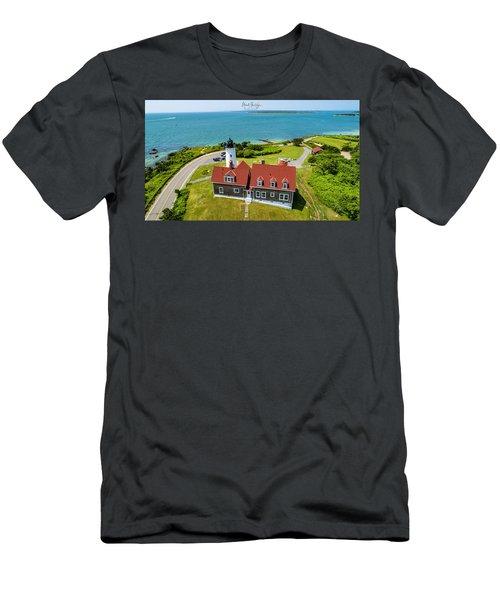 Nobska Light House  Men's T-Shirt (Athletic Fit)
