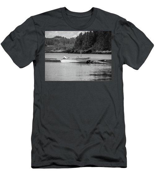 Noca Scotia In Black And White  Men's T-Shirt (Athletic Fit)