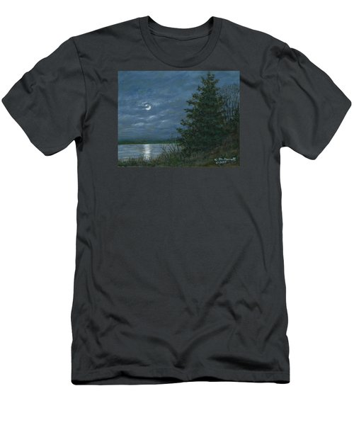 Men's T-Shirt (Slim Fit) featuring the painting Nocturne In Blue by Kathleen McDermott