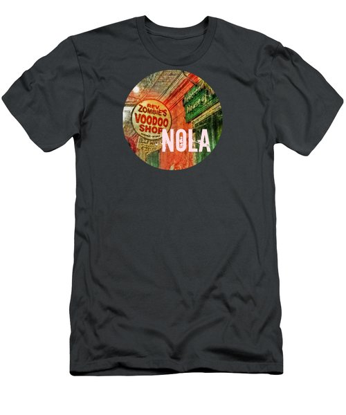 New Orleans Voodoo T Shirt Men's T-Shirt (Slim Fit) by Valerie Reeves