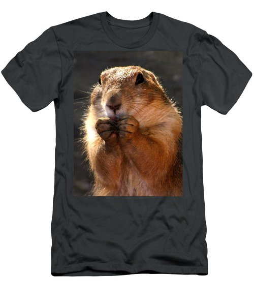 Snacking Prairie Dog Men's T-Shirt (Athletic Fit)