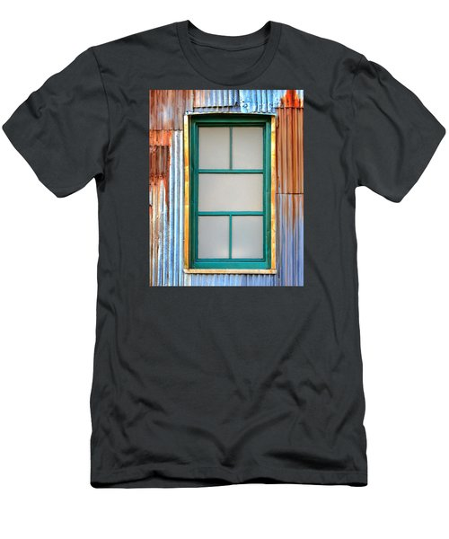 Men's T-Shirt (Slim Fit) featuring the photograph Nonwindow Surrounded By Color by Gary Slawsky