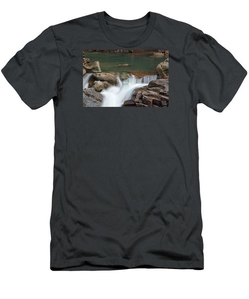 Nooksack Falls Men's T-Shirt (Slim Fit) by Sabine Edrissi