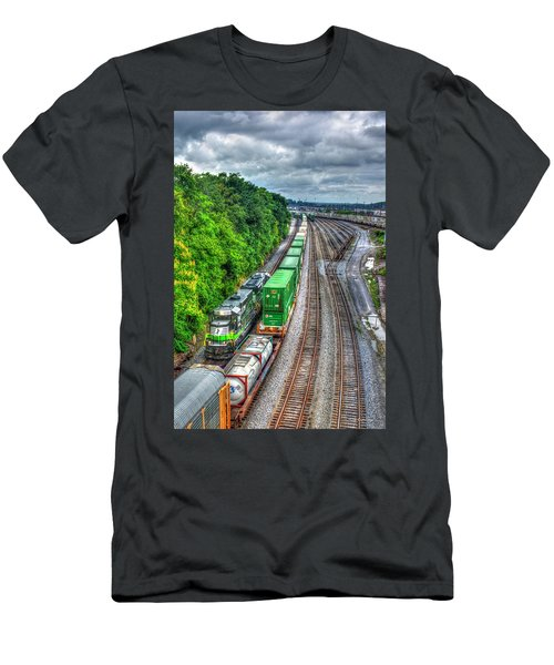 Men's T-Shirt (Athletic Fit) featuring the photograph Norfolk Southern Locomotive 648 Atlanta Train Art by Reid Callaway