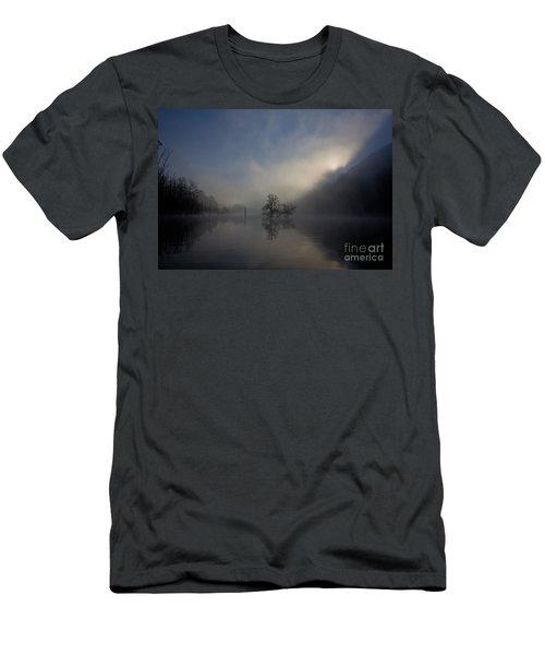 Norris Lake April 2015 Men's T-Shirt (Slim Fit) by Douglas Stucky