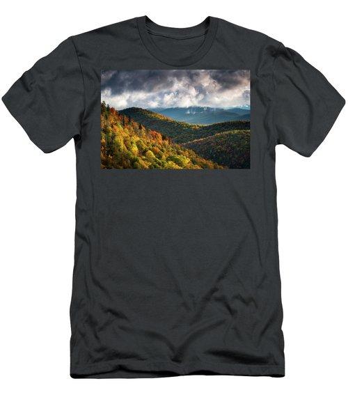 North Carolina Mountains Asheville Nc Autumn Sunrise Men's T-Shirt (Athletic Fit)