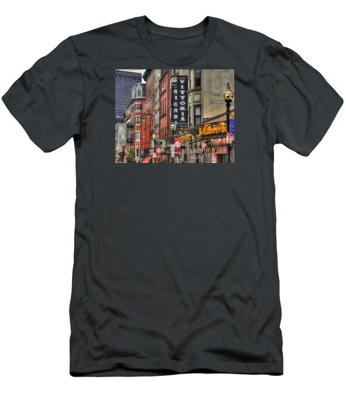 North End Charm 11x14 Men's T-Shirt (Slim Fit) by Joann Vitali