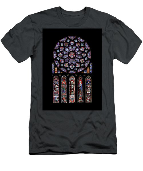 North Rose Window Of Chartres Cathedral Men's T-Shirt (Athletic Fit)