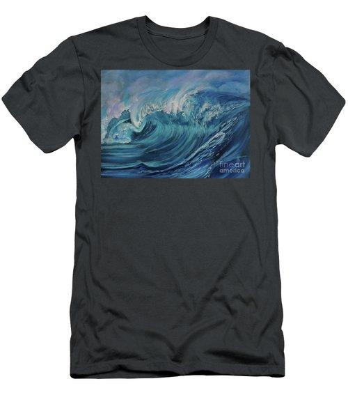 North Shore Wave Oahu Men's T-Shirt (Athletic Fit)