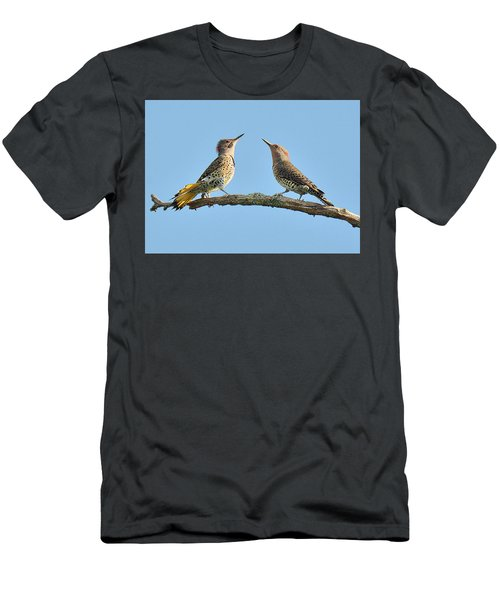 Northern Flickers Communicate Men's T-Shirt (Slim Fit) by Alan Lenk