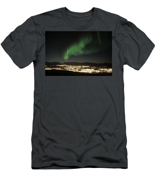 Northern Light In Troms, North Of Norway Men's T-Shirt (Slim Fit) by Tamara Sushko