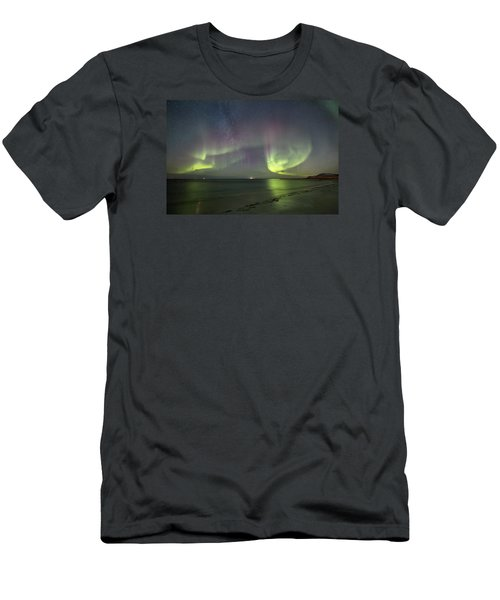 Northern Lights At The Beach II Men's T-Shirt (Athletic Fit)