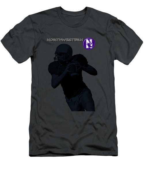 Northwestern Football Men's T-Shirt (Slim Fit) by David Dehner