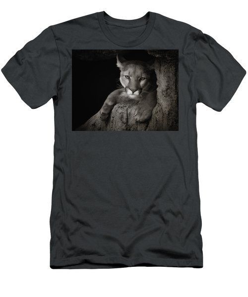 Not A Happy Cat Men's T-Shirt (Slim Fit) by Elaine Malott