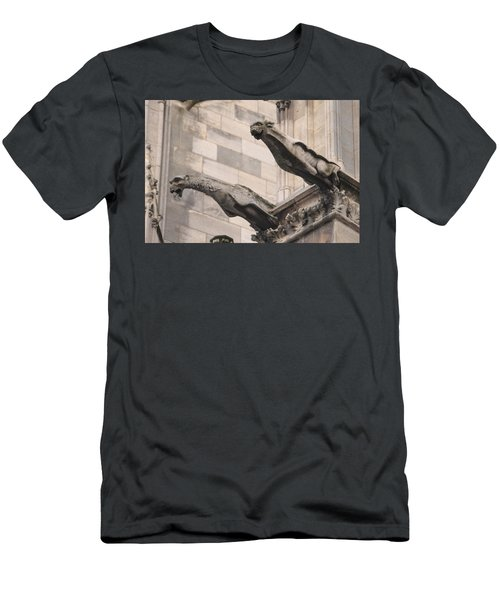 Notre Dame Cathedral Gargoyles Men's T-Shirt (Slim Fit) by Christopher Kirby