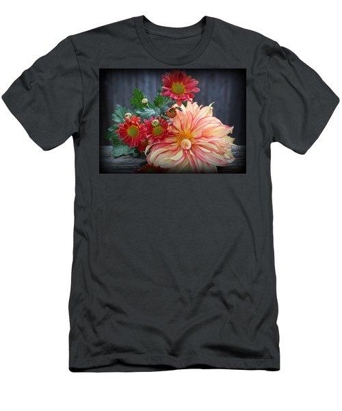 November  Flowers - Still Life Men's T-Shirt (Slim Fit) by Dora Sofia Caputo Photographic Art and Design