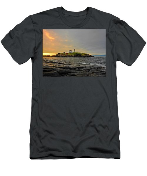 Nubble Lighthouse Men's T-Shirt (Athletic Fit)