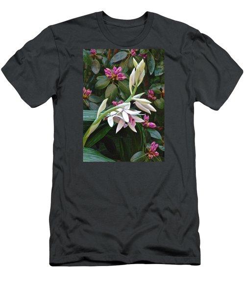 Nun Orchid Men's T-Shirt (Slim Fit) by Janis Nussbaum Senungetuk