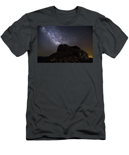 Nuraghe Of Sardinia Under The Stars Men's T-Shirt (Athletic Fit)