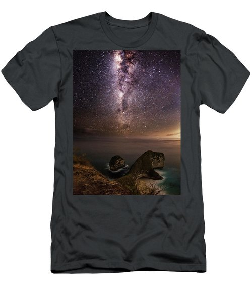 Men's T-Shirt (Athletic Fit) featuring the photograph Nusa Penida Beach At Night by Pradeep Raja Prints