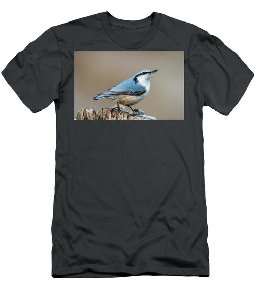 Men's T-Shirt (Slim Fit) featuring the photograph Nuthatch's Pose by Torbjorn Swenelius