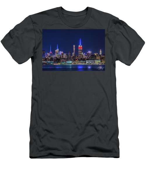 Nyc At The Blue Hour Men's T-Shirt (Athletic Fit)