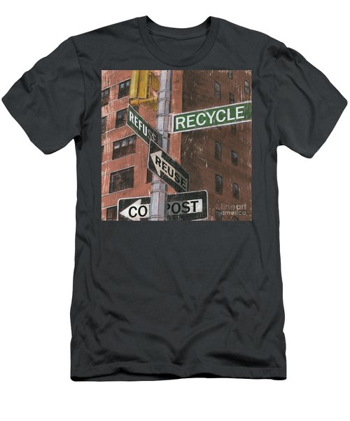 Nyc Broadway 1 Men's T-Shirt (Athletic Fit)
