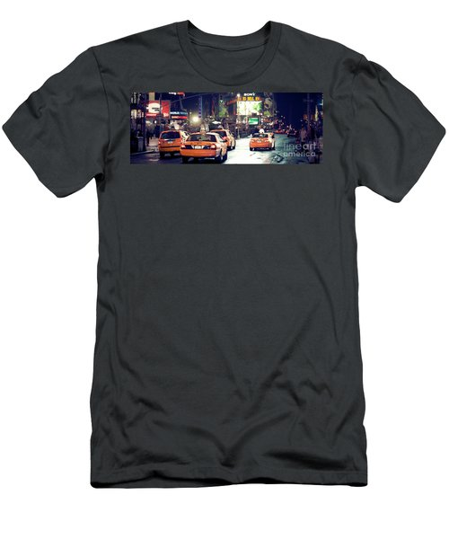 New York City Night Drive Men's T-Shirt (Athletic Fit)
