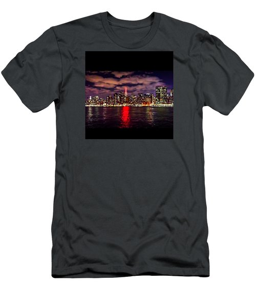 Nyc Skyline Men's T-Shirt (Slim Fit) by Diya Baichu