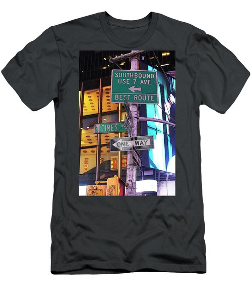 Nyc Street Sign Men's T-Shirt (Athletic Fit)