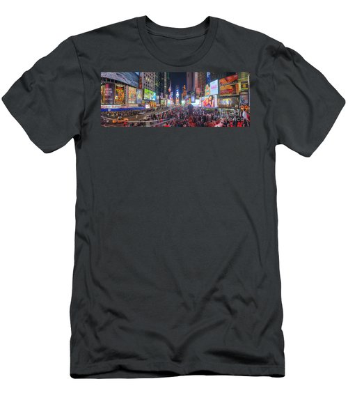 Nyc Times Square Panorama Men's T-Shirt (Athletic Fit)