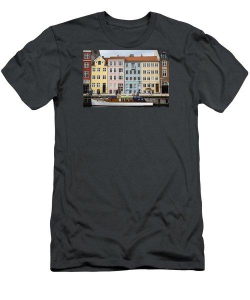 Nyhavn Pastels Men's T-Shirt (Slim Fit) by Eric Nielsen