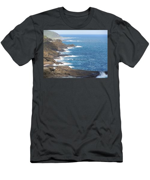 Oahu Coastline Men's T-Shirt (Athletic Fit)