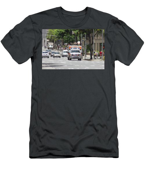 Men's T-Shirt (Athletic Fit) featuring the photograph Oahu Emergency by RKAB Works