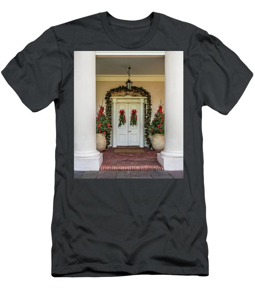 Men's T-Shirt (Slim Fit) featuring the photograph Oak Alley Plantation Doors by Paul Freidlund