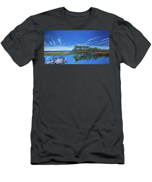 Oak Bluffs With Grady White Men's T-Shirt (Athletic Fit)