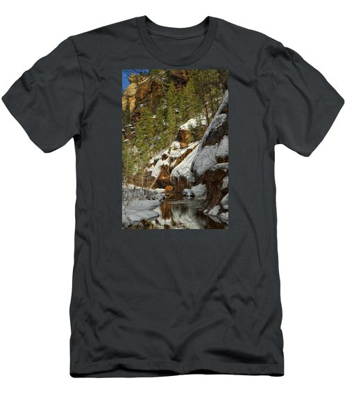 Men's T-Shirt (Slim Fit) featuring the photograph Oak Creek Beckons by Tom Kelly