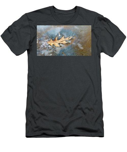 Oak Leaf Frozen On Ice Men's T-Shirt (Athletic Fit)