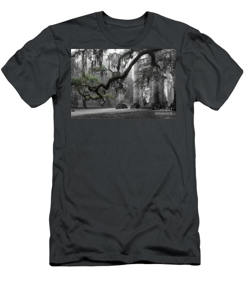 Oak Limb At Old Sheldon Church Men's T-Shirt (Athletic Fit)