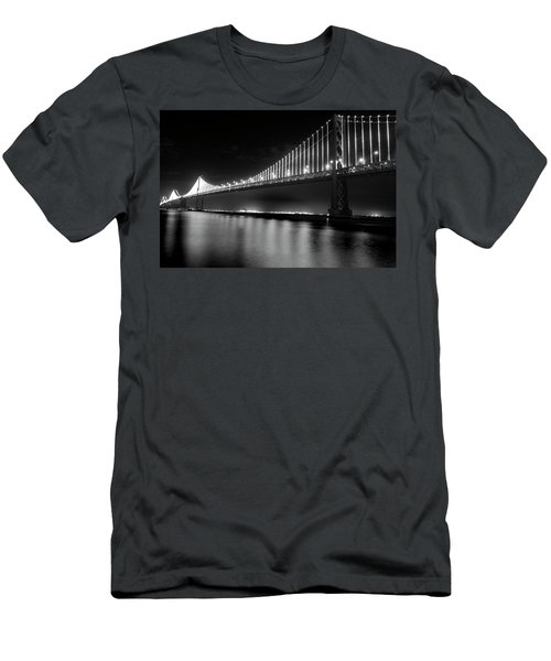 Men's T-Shirt (Slim Fit) featuring the photograph Oakland Bay Bridge At Night by Darcy Michaelchuk