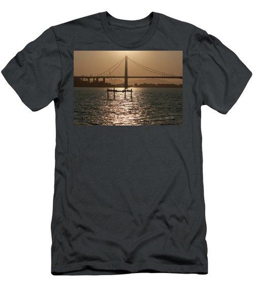 Oakland Bay Bridge II Men's T-Shirt (Athletic Fit)