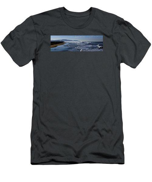 Ocean Beach San Francisco Men's T-Shirt (Slim Fit) by Steve Siri