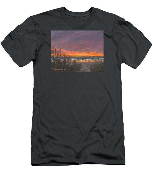 Men's T-Shirt (Slim Fit) featuring the painting Ocean Daybreak # 2 by Kathleen McDermott