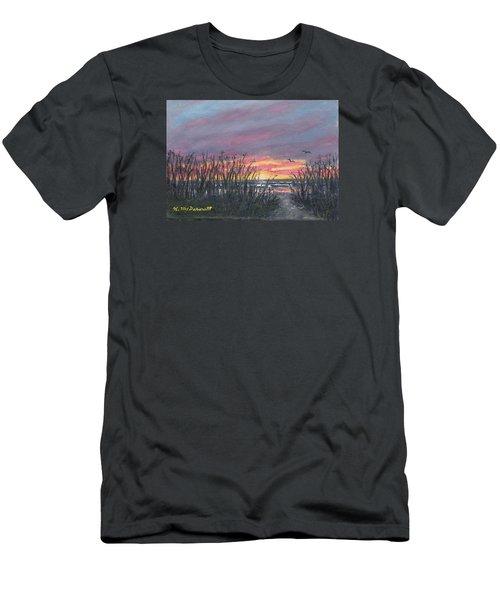 Men's T-Shirt (Slim Fit) featuring the painting Ocean Daybreak by Kathleen McDermott
