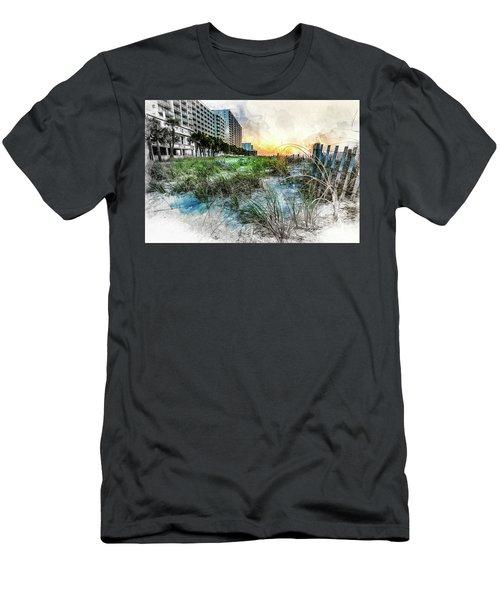 Ocean Drive Easter Sunrise Men's T-Shirt (Athletic Fit)